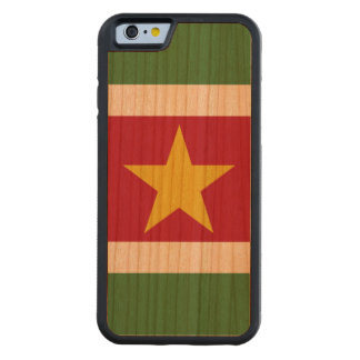 Suriname Flag Carved Cherry iPhone 6 Bumper Case