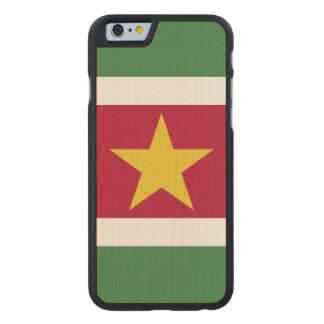 Suriname Flag Carved Maple iPhone 6 Case