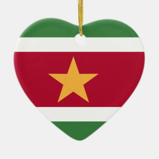 Suriname flag ceramic ornament