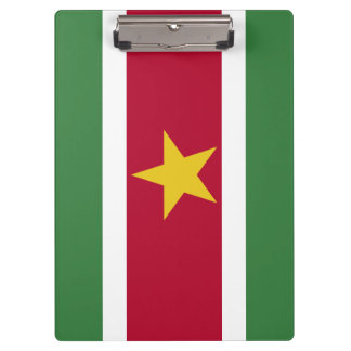 Suriname Flag Clipboard