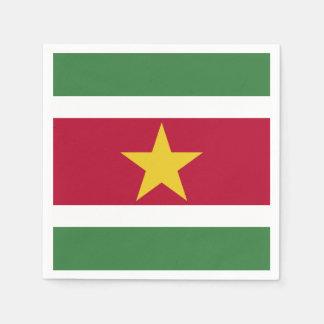 Suriname Flag Disposable Napkin