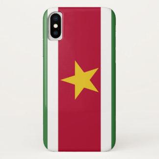 Suriname Flag iPhone X Case