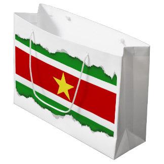 Suriname Flag Large Gift Bag