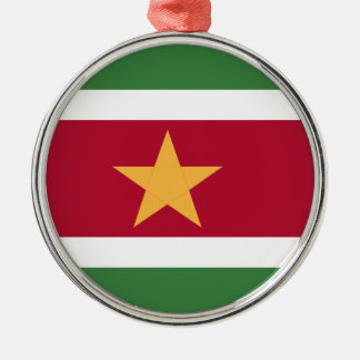Suriname flag metal ornament