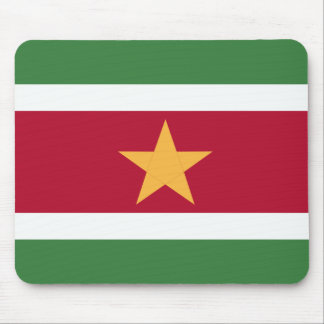 Suriname flag mouse pad