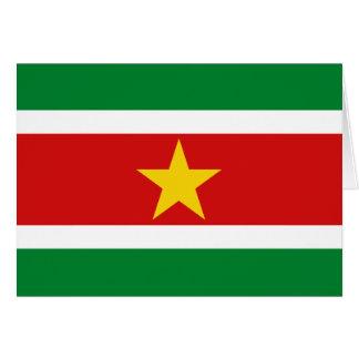 Suriname Flag Notecard Note Card