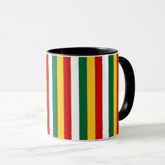 Suriname flag stripes lines pattern mug