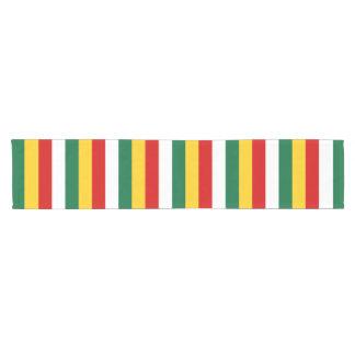 Suriname flag stripes lines pattern short table runner