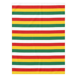Suriname flag stripes lines pattern tablecloth