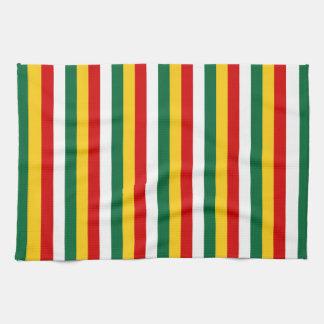 Suriname flag stripes lines pattern tea towel