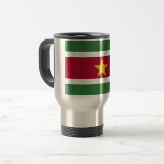Suriname Flag Travel Mug