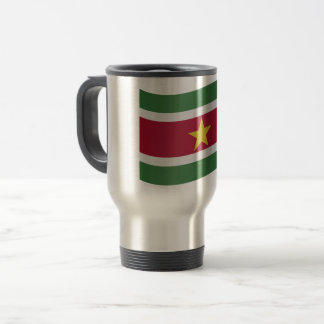 Suriname Flag Travel Mug