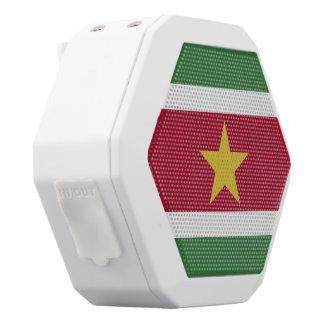 Suriname Flag White Bluetooth Speaker