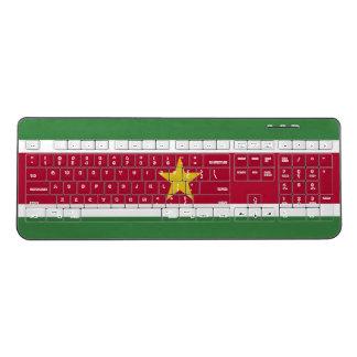 Suriname Flag Wireless Keyboard