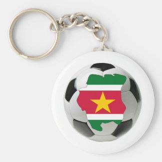 Suriname national team basic round button key ring