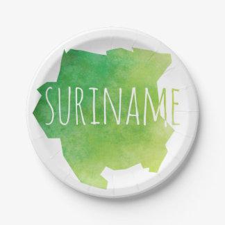 Suriname Paper Plate