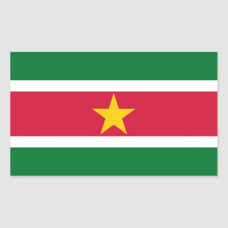 SURINAME RECTANGULAR STICKER