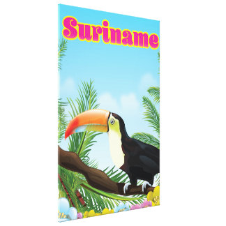 Suriname South american paradise travel poster Canvas Print