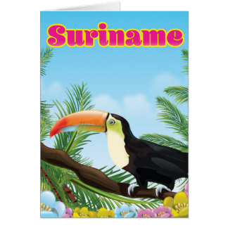 Suriname South american paradise travel poster Card