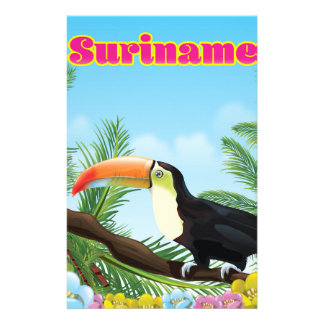 Suriname South american paradise travel poster Stationery