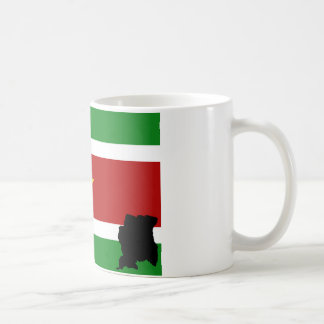 Surinamese flag + country coffee mug