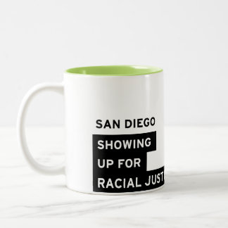 SURJ San Diego Mug - Lime Green Two-Tone