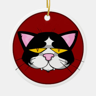 Surly Cat Christmas Tree Ornament
