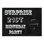 Surprise 21st Birthday Party Invitation Chalkboard