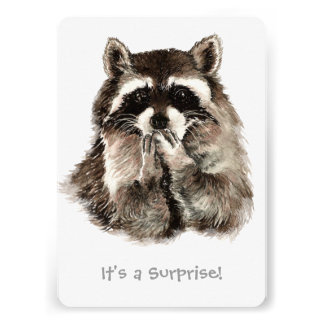 Surprise 30th Birthday Party Fun Shhhh Raccoon Personalized Announcements