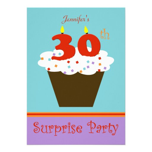 Surprise 30th Birthday Party Invitation Invite
