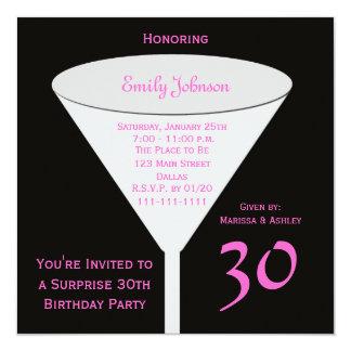 """Surprise 30th Birthday Party Invitation 5.25"""" Square Invitation Card"""