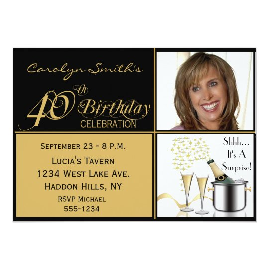 Surprise 40th Birthday Party Invitations