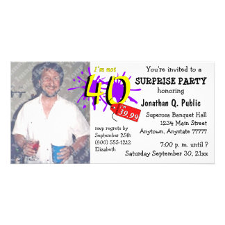 Surprise 40th Birthday Party Photo Invitation Customized Photo Card