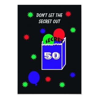 Surprise 50th Birthday Party Invitation SECRET