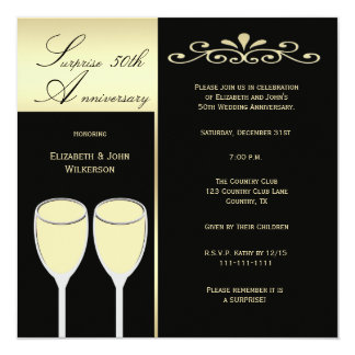 Surprise 50th Wedding Anniversary Party Invitation