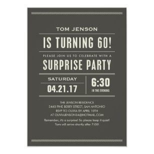 Surprise 60th birthday invitations announcements zazzle surprise 60th birthday invitations filmwisefo