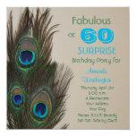 Surprise 60th Birthday Party Invitation - Fabulous 13 Cm X 13 Cm Square Invitation Card