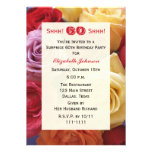 Surprise 60th Birthday Party Invitation, Roses