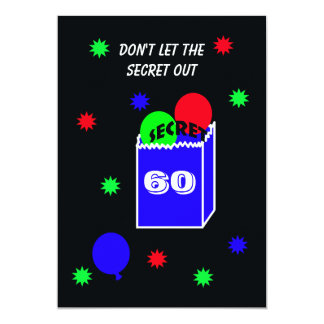 Surprise 60th Birthday Party Invitation SECRET