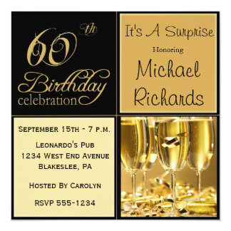 Surprise 60th Birthday Party Invitations & Announcements | Zazzle ...