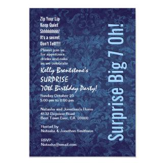 SURPRISE 70th Birthday Burgundy and Peach F002 13 Cm X 18 Cm Invitation Card