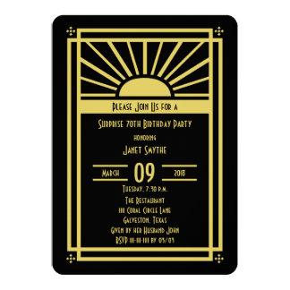 Surprise 70th Birthday Party Invitation Art Deco