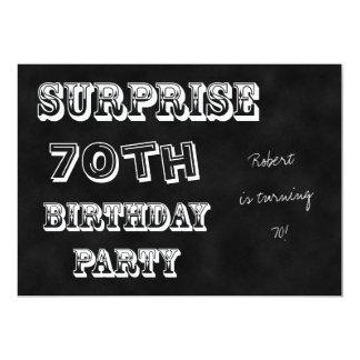 Surprise 70th Birthday Party Invitation Chalkboard