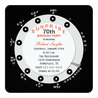 Surprise 70th Birthday Party Invitation Rotary