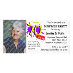Surprise 70th Birthday Party Photo Invitation Photo Greeting Card