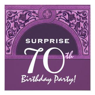 SURPRISE 70th Birthday Purple Arch H482 Card