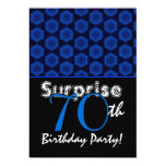 SURPRISE 70th Birthday Royal Blue Stars W1448