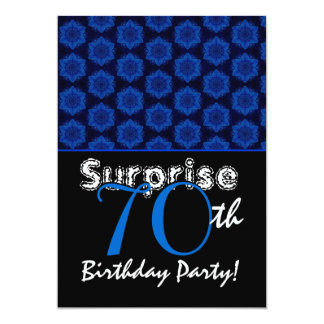 SURPRISE 70th Birthday Royal Blue Stars W1448 Card