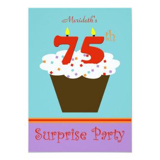 Surprise 75th Birthday Party Invitation