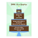 Surprise 80th Birthday Party Invitation -- Cake